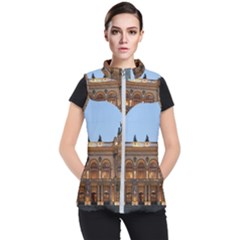 Municipal Theatre Of Sao Paulo Brazil Women s Puffer Vest by Sapixe