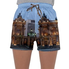 Municipal Theatre Of Sao Paulo Brazil Sleepwear Shorts