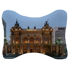 Municipal Theatre Of Sao Paulo Brazil Velour Seat Head Rest Cushion by Sapixe