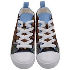 Municipal Theatre Of Sao Paulo Brazil Kid s Mid Top Canvas Sneakers