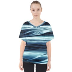 Texture Fractal Frax Hd Mathematics V Neck Dolman Drape Top by Sapixe