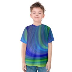 Space Design Abstract Sky Storm Kids  Cotton Tee by Sapixe