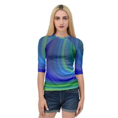 Space Design Abstract Sky Storm Quarter Sleeve Raglan Tee by Sapixe