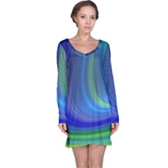 Space Design Abstract Sky Storm Long Sleeve Nightdress