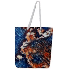 Wow Art Brave Vintage Style Full Print Rope Handle Tote (large) by Sapixe