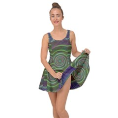 Spiral Fractal Digital Modern Inside Out Casual Dress