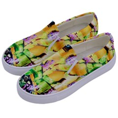 Lilac On A Counter Top 1 Kids  Canvas Slip Ons by bestdesignintheworld