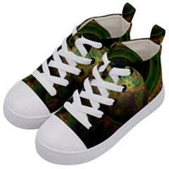 Tiktok s Four Dimensional Steampunk Time Contraption Kid s Mid Top Canvas Sneakers by jayaprime