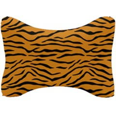 Orange And Black Tiger Stripes Seat Head Rest Cushion