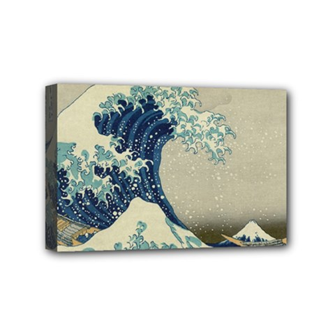 The Classic Japanese Great Wave Off Kanagawa By Hokusai Mini Canvas 6  X 4  by PodArtist