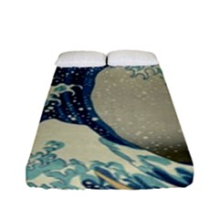 The Classic Japanese Great Wave Off Kanagawa By Hokusai Fitted Sheet (full/ Double Size) by PodArtist