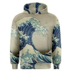 The Classic Japanese Great Wave Off Kanagawa By Hokusai Men s Overhead Hoodie by PodArtist