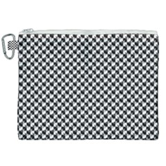 Black And White Checkerboard Weimaraner Canvas Cosmetic Bag (xxl) by PodArtist