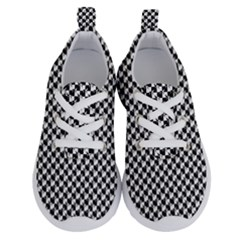 Black And White Checkerboard Weimaraner Running Shoes by PodArtist