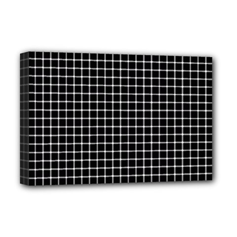Black And White Optical Illusion Dots And Lines Deluxe Canvas 18  X 12   by PodArtist
