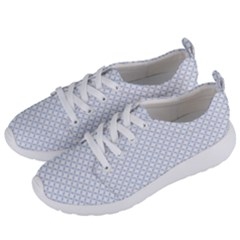 Alice Blue Quatrefoil In An English Country Garden Women s Lightweight Sports Shoes by PodArtist