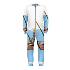 Fishing Fish Fisherman Boat Mare Onepiece Jumpsuit (kids) by Sapixe