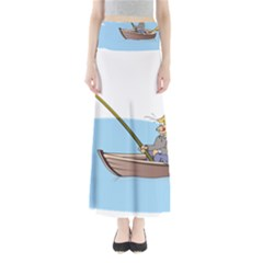 Fishing Fish Fisherman Boat Mare Full Length Maxi Skirt by Sapixe