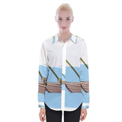 Fishing Fish Fisherman Boat Mare Womens Long Sleeve Shirt