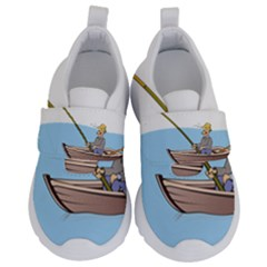 Fishing Fish Fisherman Boat Mare Velcro Strap Shoes