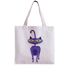 Cat Clipart Animal Cartoon Pet Grocery Tote Bag by Sapixe