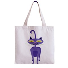 Cat Clipart Animal Cartoon Pet Zipper Grocery Tote Bag by Sapixe