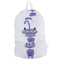 Cat Clipart Animal Cartoon Pet Foldable Lightweight Backpack by Sapixe