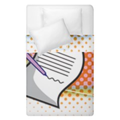 Letter Paper Note Design White Duvet Cover Double Side (single Size)