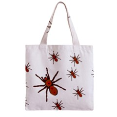 Nature Insect Natural Wildlife Zipper Grocery Tote Bag by Sapixe