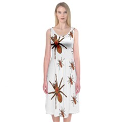Nature Insect Natural Wildlife Midi Sleeveless Dress