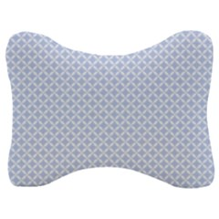 Alice Blue Hearts In An English Country Garden Velour Seat Head Rest Cushion