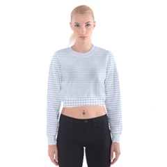 Alice Blue Hearts In An English Country Garden Cropped Sweatshirt
