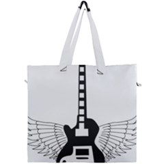 Guitar Abstract Wings Silhouette Canvas Travel Bag