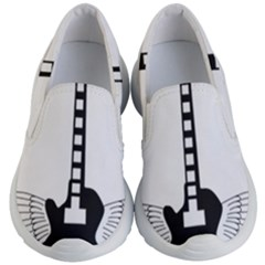 Guitar Abstract Wings Silhouette Kid s Lightweight Slip Ons by Sapixe