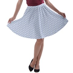 Alice Blue White Kisses In English Country Garden A Line Skater Skirt by PodArtist