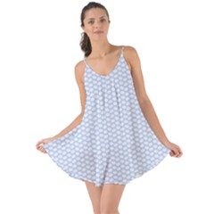 Alice Blue White Kisses In English Country Garden Love The Sun Cover Up by PodArtist