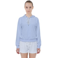 Alice Blue White Kisses In English Country Garden Women s Tie Up Sweat by PodArtist
