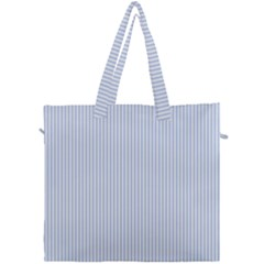 Alice Blue Pinstripe In An English Country Garden Canvas Travel Bag by PodArtist