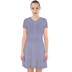 Usa Flag Blue And White Gingham Checked Adorable In Chiffon Dress