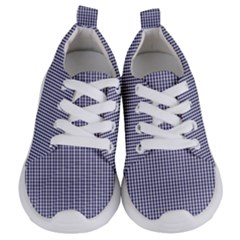 Usa Flag Blue And White Gingham Checked Kids  Lightweight Sports Shoes