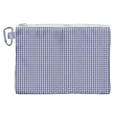 Usa Flag Blue And White Gingham Checked Canvas Cosmetic Bag (xl) by PodArtist