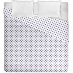 Usa Flag Blue Stars On White Duvet Cover Double Side (king Size)