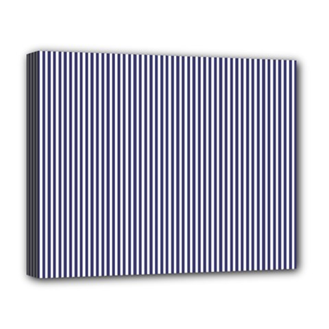 Usa Flag Blue And White Stripes Deluxe Canvas 20  X 16