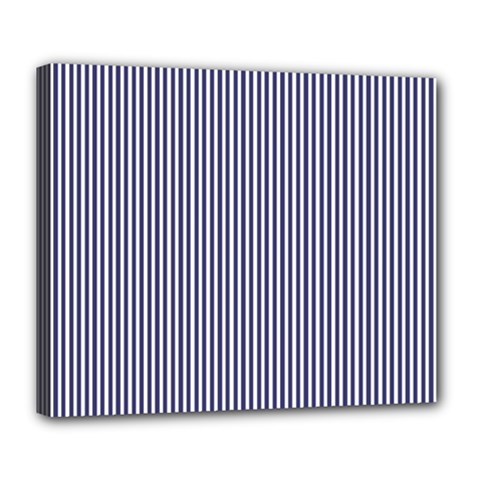 Usa Flag Blue And White Stripes Deluxe Canvas 24  X 20