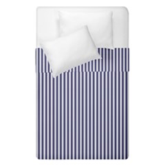Usa Flag Blue And White Stripes Duvet Cover Double Side (single Size)