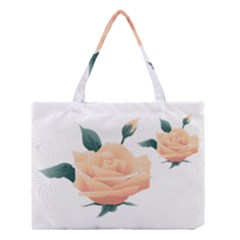 Rose Flower Nature Floral Summer Medium Tote Bag by Sapixe