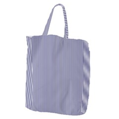 Usa Flag Blue And White Stripes Giant Grocery Zipper Tote by PodArtist