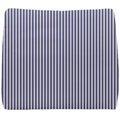 Usa Flag Blue And White Stripes Seat Cushion by PodArtist
