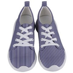 Usa Flag Blue And White Stripes Women s Lightweight Sports Shoes
