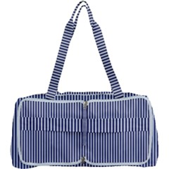 Usa Flag Blue And White Stripes Multi Function Bag